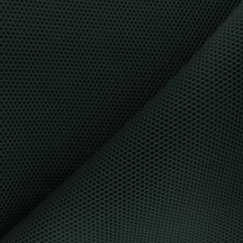 Tissu mesh 3D Bubble - vert sapin x 10cm