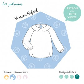 Sweat Sewing Pattern - Les Patronnes Niki kids