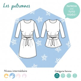 Dress/blouse Sewing Pattern - Les Patronnes Chagall