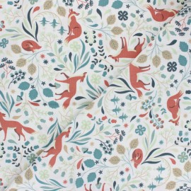 Dear Stella Cotton fabric - Fawned of You Foxy Time x 10cm