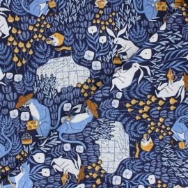 Dear Stella Cotton fabric - Honey Bee Bee Keepers x 10cm