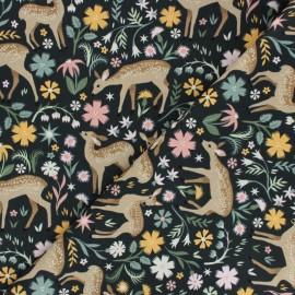Tissu Coton Dear Stella Fawned of You - vert foncé x 10cm