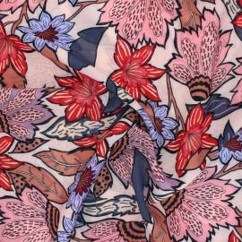 Tissu viscose Atelier Jupe - Floralia rose pâle x 10cm