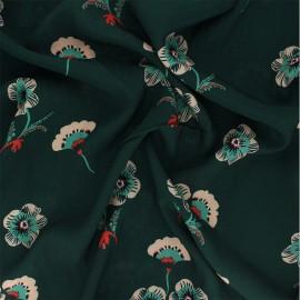 Viscose fabric Atelier Jupe - green Emilia x 10cm