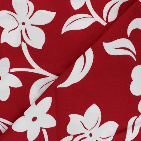 Hoffman cotton fabrics - red Tropicals & Conversationals x 10cm