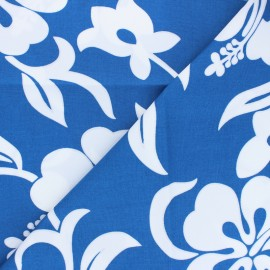 Hoffman cotton fabrics - blue Tropicals & Conversationals x 10cm