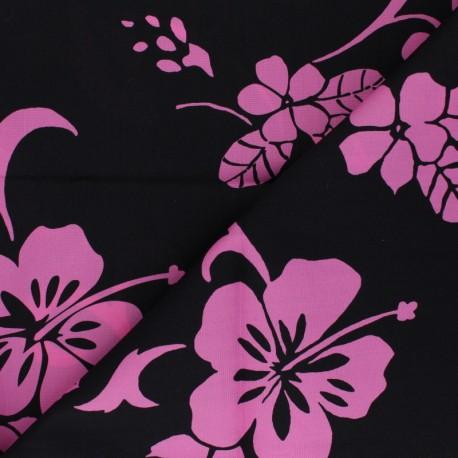 Hoffman cotton fabrics - pink Tropical Flowers x 10cm