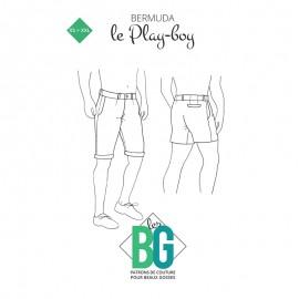 Patron Bermuda Homme Les BG - Le Play-boy