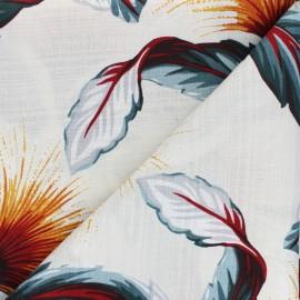 Tissu coton aspect lin Hoffman Fabrics Fresh Linen - écru x 10cm