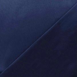 Tissu piqué de coton Molly - marine x 10cm