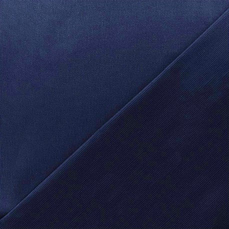 Stitched cotton fabric Molly - navy x 10cm