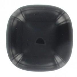Bouton carré arrondi noir
