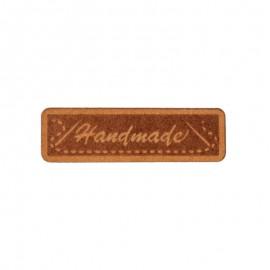 "40mm paper label - brown ""Handmade"""