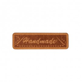 """Etiquette papier """"Handmade"""" 40mm - marron"""