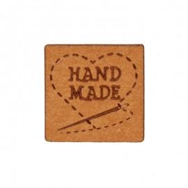 "20mm paper label - brown ""Handmade"""