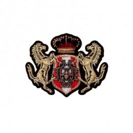 Thermocollant Blason Héraldique - Cheval de Saxe - doré
