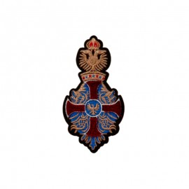 Heraldic Iron-On Patch - copper Eagle