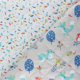 Quilted cotton fabric - white Lunazel/Chouni x 10cm