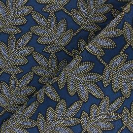 Jacquard fabric - blue Bego x 10cm
