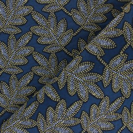 Tissu Jacquard Bego - Bleu x 10cm