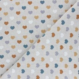 Tissu Toile polycoton aspect lin Valentine - ocre x 10cm