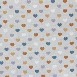 Coated linen aspect polycotton fabric - ochre Valentine x 10cm