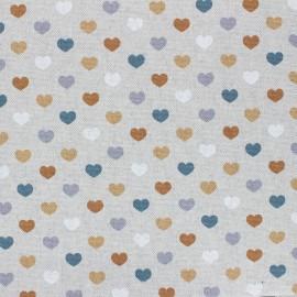 Tissu Toile polycoton aspect lin enduit Valentine - ocre x 10cm