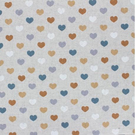 Coated linen aspect polycotton fabric - ochre Valentine x 10cm