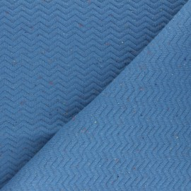 Quilted mottled fabric - blue Chevrons x 10cm