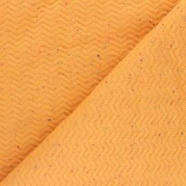 Tissu matelassé Chevrons moucheté - jaune x 10cm