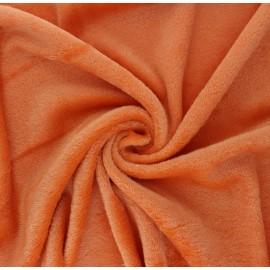 Plain flannel fleece fabric - orange x 10cm