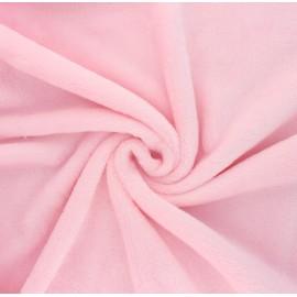 Plain flannel fleece fabric - baby pink Tout Doux x 10cm