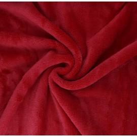 Tissu Doudou Tout Doux uni - rouge x 10 cm