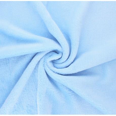 Plain flannel fleece fabric - baby blue x 10cm