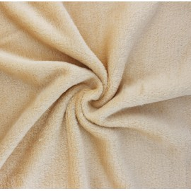 Plain flannel fleece fabric - beige Tout Doux x 10cm