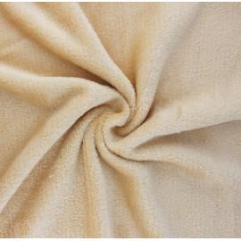 Tissu Doudou Tout Doux uni - beige x 10 cm