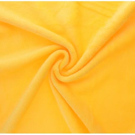 Plain flannel fleece fabric - mimosa yellow x 10cm