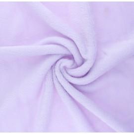 Tissu Doudou Tout Doux uni - lilas x 10 cm