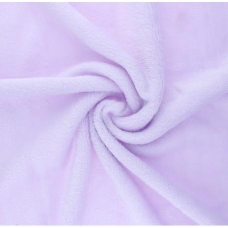 Plain flannel fleece fabric - lilac x 10cm