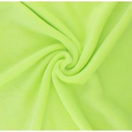 Tissu Doudou Tout Doux uni - vert anis x 10 cm