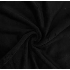 Tissu Doudou Tout Doux uni - noir x 10 cm