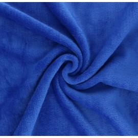 Plain flannel fleece fabric - royal blue Tout Doux x 10cm