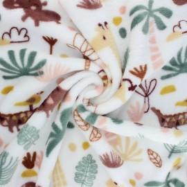 Flannel fleece fabric - white Sophie et ses amis x 10cm