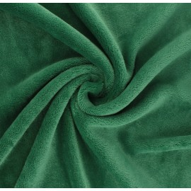Plain flannel fleece fabric - meadow green Tout Doux x 10cm