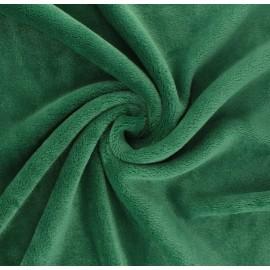 Tissu Doudou Tout Doux uni - vert prairie x 10 cm
