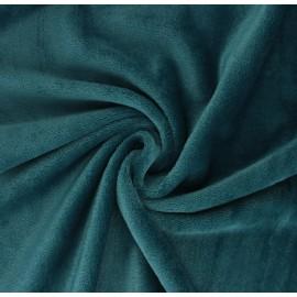 Plain flannel fleece fabric - peacock green x 10cm