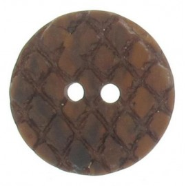 Round-shaped button with traces - brown