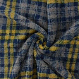 Flannel fleece fabric - mustard Wishow x 10cm