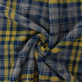 Tissu Doudou Wishow - moutarde x 10 cm