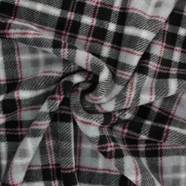 Flannel fleece fabric - grey Hurlford x 10cm